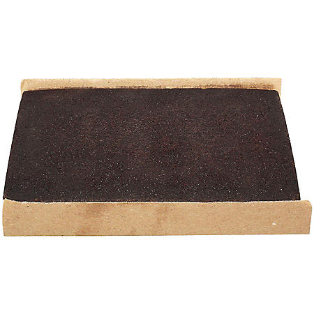 1/2 Sheet Un-Iced Chocolate Cake, Bulk Wholesale Case (6 ct.)