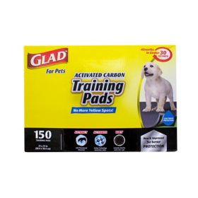 Glad for Pets Activated Carbon Training Pads For Dogs and Puppies, 150 ct.