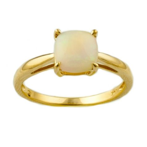 .65 ct. Cushion-Cut Lab-Created Opal Ring in 14k Yellow Gold