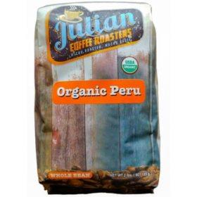 Julian Coffee Roasters Organic Peru Whole Bean Coffee (2 lbs.)