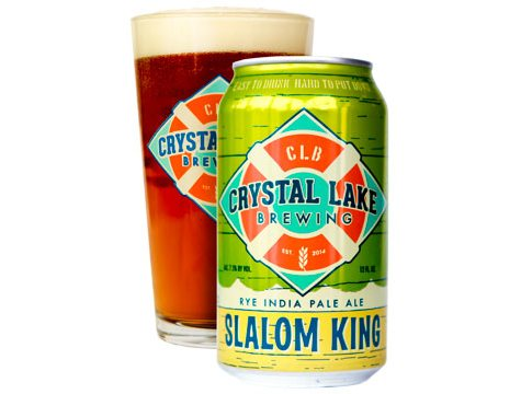 Crystal Lake Brewing Slalom King IPA (12 fl. oz. can, 6 pk.)