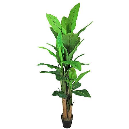 Faux 6' Banana Tree in Grower's Pot