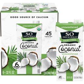 So Delicious Dairy Free Organic CoconutMilk Aseptic (32 fl. oz. carton, 6 pk.)
