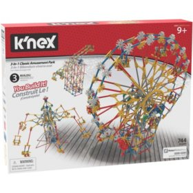 K'NEX Thrill Rides 3-in-1 Classic Amusement Park Building Set - 744 pieces