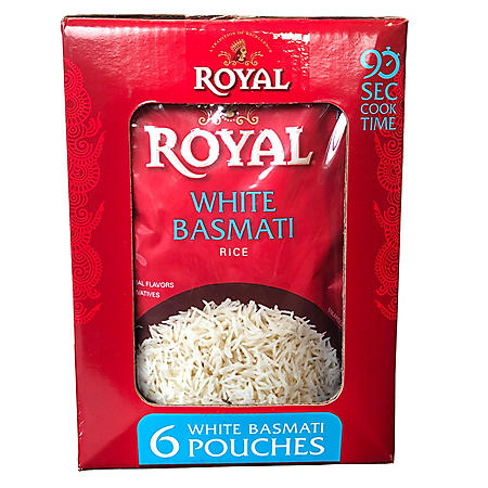 Royal Ready to Heat White Basmati Rice (8.5 oz., 6 pk.)