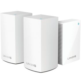Linksys Velop Intelligent Mesh Wi-Fi System, 3-Pack: 2 Dual-Band AC3600 Nodes and 1 Plug-in Node