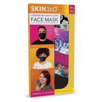 SKIN360 Premium Reusable Cloth Face Mask, Medium/Large, Choose your Style (6 pk.)