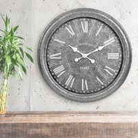 """27"""" Galvanized Wall Clock (Assorted Colors)"""