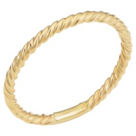 14K Yellow Gold Ribbed Ring