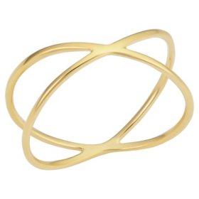 14K Yellow Gold Italian Criss Cross Ring