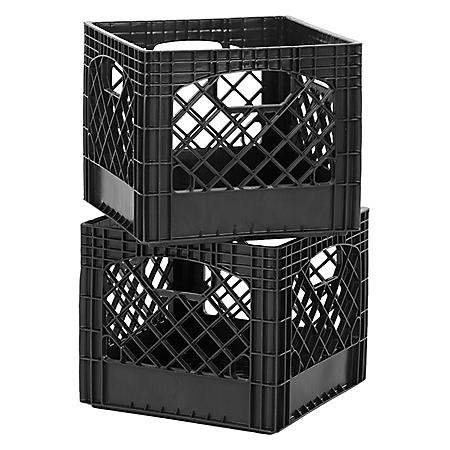 Authentic Milk Crates, 2 Pack