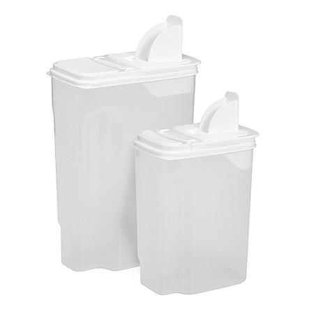 Bulk Food and Cereal Dispensers, 2 Pack