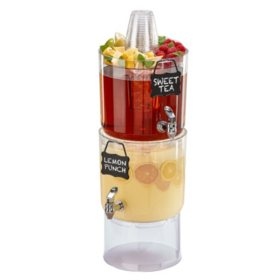 Party Top Beverage Dispensers, 2 Pack (1.75 gal.)