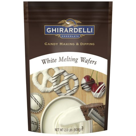 Ghirardelli Candy Making & Dipping  Wafers, Choice of White Chocolate or Dark Chocolate  (2 lbs.)