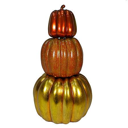 Harvest Time Stackable Pumpkins, Set of 3