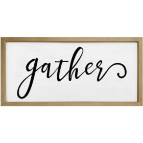 "45"" Farmhouse Wall Sign (Various Sayings)"