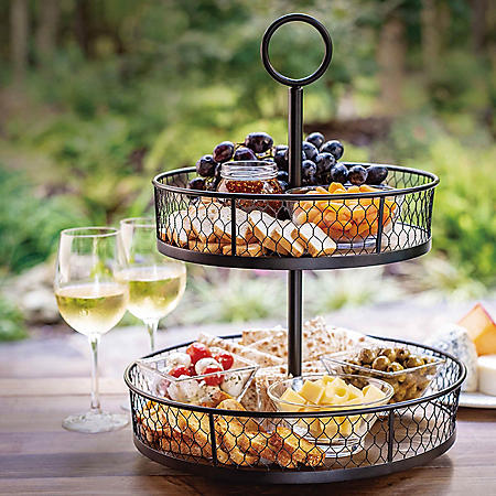 Farmhouse Revolving 2-Tier Stand