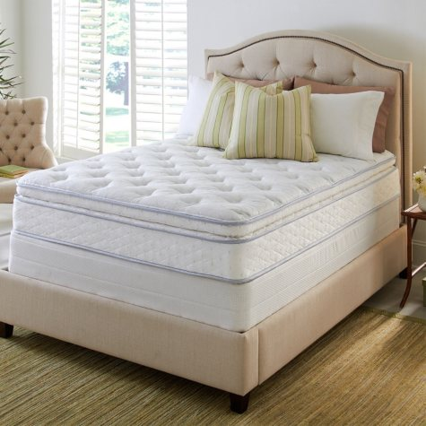 Perfect Sleeper Hinsdale Plush Pillowtop Mattress Set - Twin