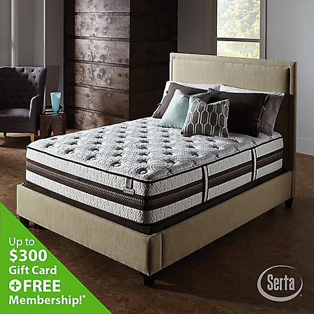 iSeries Profiles Prominence Firm Split Low Profile Mattress Set - Queen