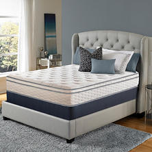 Serta Perfect Sleeper Woodbriar II Cushion Firm Eurotop Mattress Set (Club Pickup)