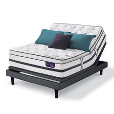 Serta iComfort Hybrid Limited Edition Super Pillowtop Queen Mattress and Motion Essentials Adjustable Foundation