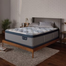 Serta iComfort Blue Fusion 300 Plush Pillowtop Hybrid King Mattress Set
