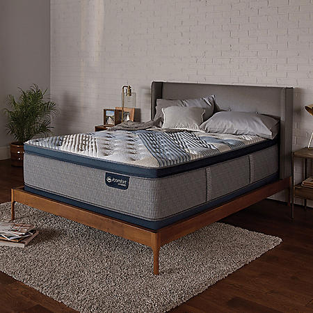 Serta iComfort Blue Fusion 1000 Luxury Firm Pillowtop Hybrid King Mattress Set