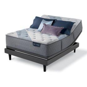 Serta iComfort Blue Fusion 3000 Firm Hybrid Twin XL Mattress and Motion Perfect IV Adjustable Base Set