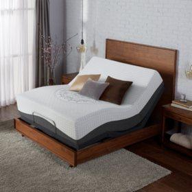 Serta Ultra Luxury Hybrid Shoreway Firm King Mattress & Motion Essentials Adjustable Set