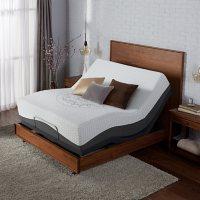 Serta Ultra Luxury Hybrid Shoreway Plush Queen Mattress & Motion Essentials Adjustable Set