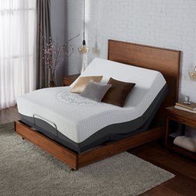 Serta Ultra Luxury Hybrid Shoreway Plush King Mattress & Motion Essentials Adjustable Set