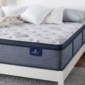Serta Perfect Sleeper Elite Eldenwood Plush Pillowtop Queen Mattress Set