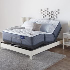 Serta Perfect Sleeper Oakbridge 3.0 Firm Full Mattress and Motion Essentials IV Adjustable Base Set