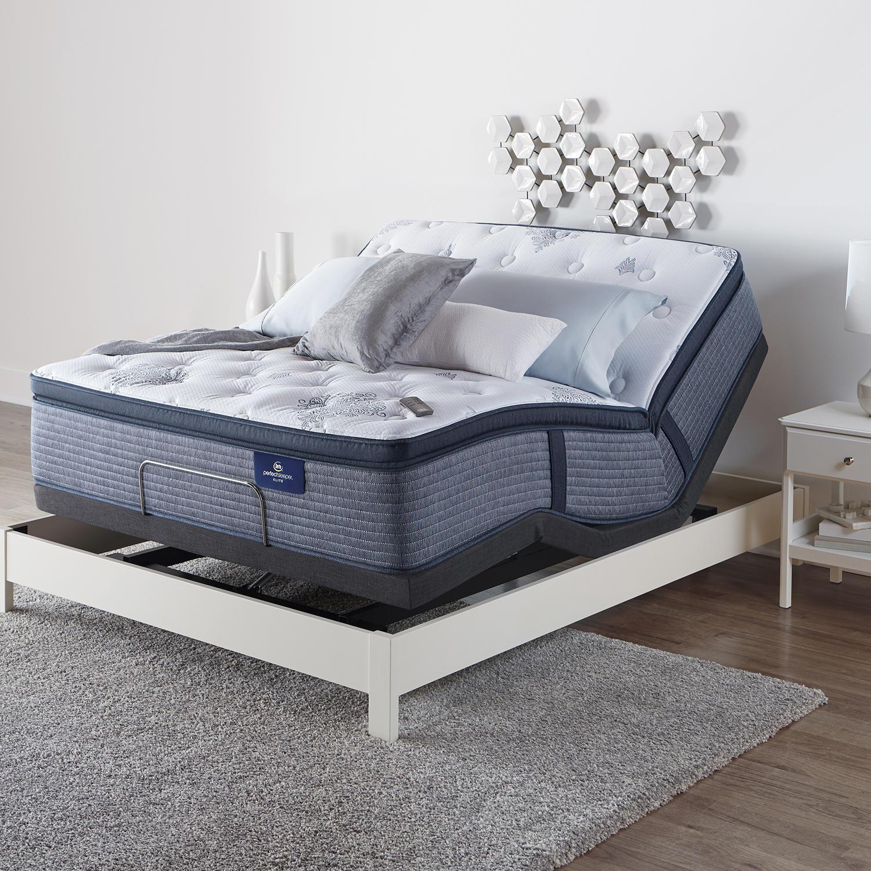 Serta Perfect Sleeper Glenmoor 2.0 Pillowtop Mattress and Motion Essentials IV Adjustable Base Set