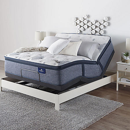 Serta Perfect Sleeper Elite Eldenwood Full Pillowtop and Motion Essentials IV Adjustable Base