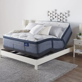Serta Perfect Sleeper Elite Eldenwood Twin XL Pillowtop and Motion Essentials IV Adjustable Base