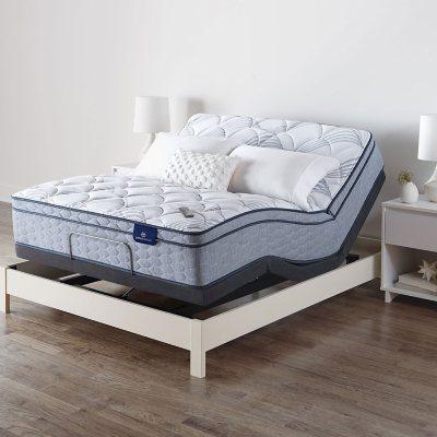 Serta Perfect Sleeper Ashbrook Eurotop Queen Mattress And Motion Essentials Iv Adjustable Base Sam S Club