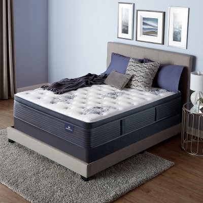 Serta Perfect Sleeper Baymist Cushion Firm Pillowtop Queen Mattress Set (Low Profile 5.75
