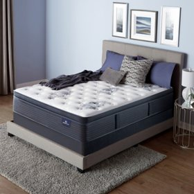 Serta Perfect Sleeper Baymist Cushion Firm Pillowtop Queen Mattress Set