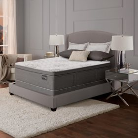 Serta Masterpiece Leopold Plush Eurotop Queen Mattress Set