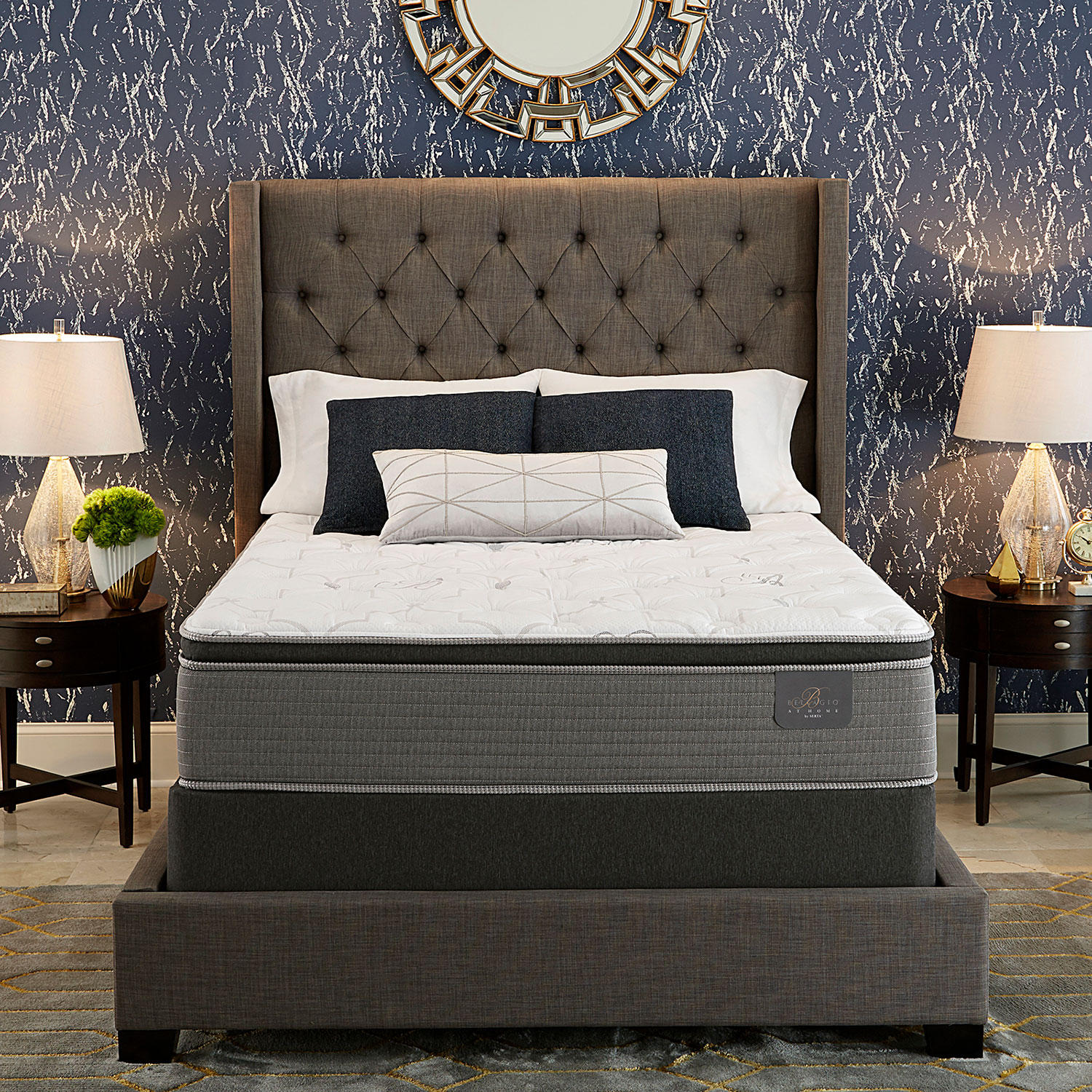Serta Bellagio Full Cushion Firm Pillowtop Mattress Set