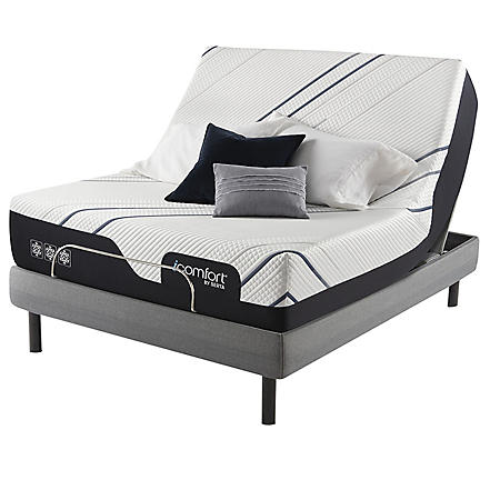 Serta iComfort CF3000 Medium Queen Mattress and Motion Perfect IV Adjustable Base Set