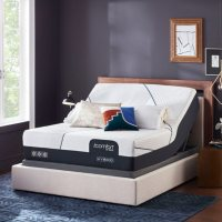 iComfort CF4000 Hybrid Firm Queen Mattress and Motion Perfect IV Adjustable Base Set