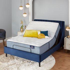 Serta Perfect Sleeper Oakbridge 4.0 Firm California King Mattress & Motion Essentials Adjustable Set