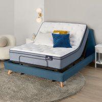 Serta Perfect Sleeper Ashbrook 2.0 Eurotop California King Mattress and Motion Essentials IV Adjustable Base Set