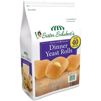 Sister Schubert S Dinner Yeast Rolls Frozen 40 Ct Sam S Club