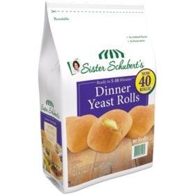 Sister Schubert's Dinner Yeast Rolls, Frozen (40 ct.)