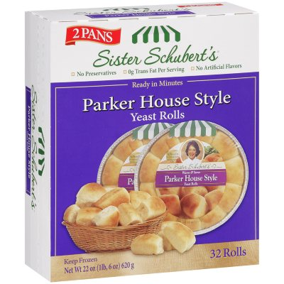 Sister Schubert S Parker House Style Yeast Rolls 32 Ct Sam S Club