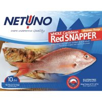 Netuno Whole Caribbean Red Snapper, Frozen (10 lbs.)