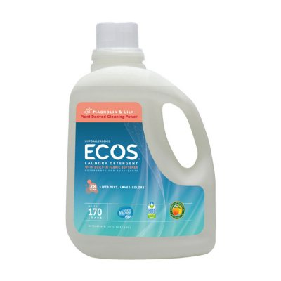 ECOS Liquid Laundry Detergent with Fabric Softener, 170 Loads (Choose Your Scent)